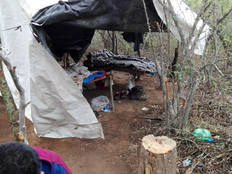 Trabajadores en situación de trata laboral vivían en Orán precarias carpas dentro del terreno donde trabajaban.