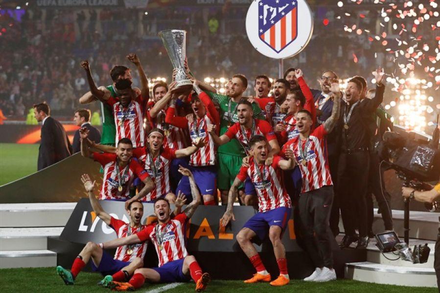 """Un festejo más. Atlético de Madrid se quedó en la Europa League y el """"Cholo"""" sumó su sexto título con el  Colchonero."""