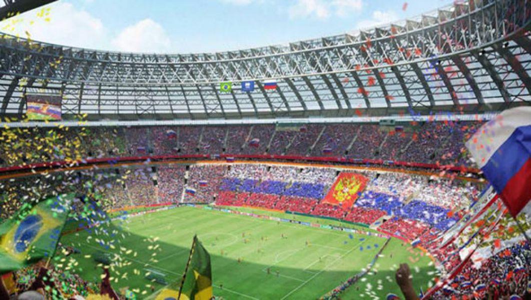El espectacular estadio Luzhniki de Moscú, será hoy el escenario de la ceremonia inaugural del Mundial Rusia 2018.