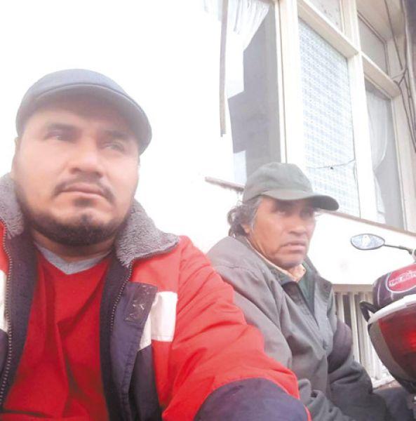 Los caciques Demetrio Campos y Martín Acosta.