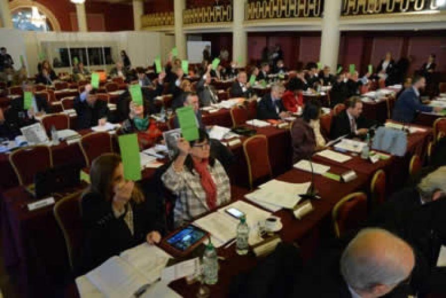 Una de las últimas reuniones del Parlamento del Mercosur (Parlasur).