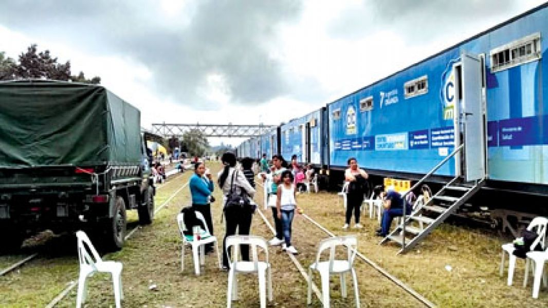 """El Tren """"Eva Perón"""" con su actividades estará desde el 10 al 18 de julio en esa localidad salteña."""