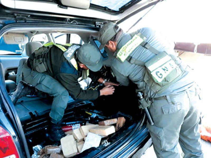 La droga estaba acondicionada en el baúl del Hyundai Tucson.