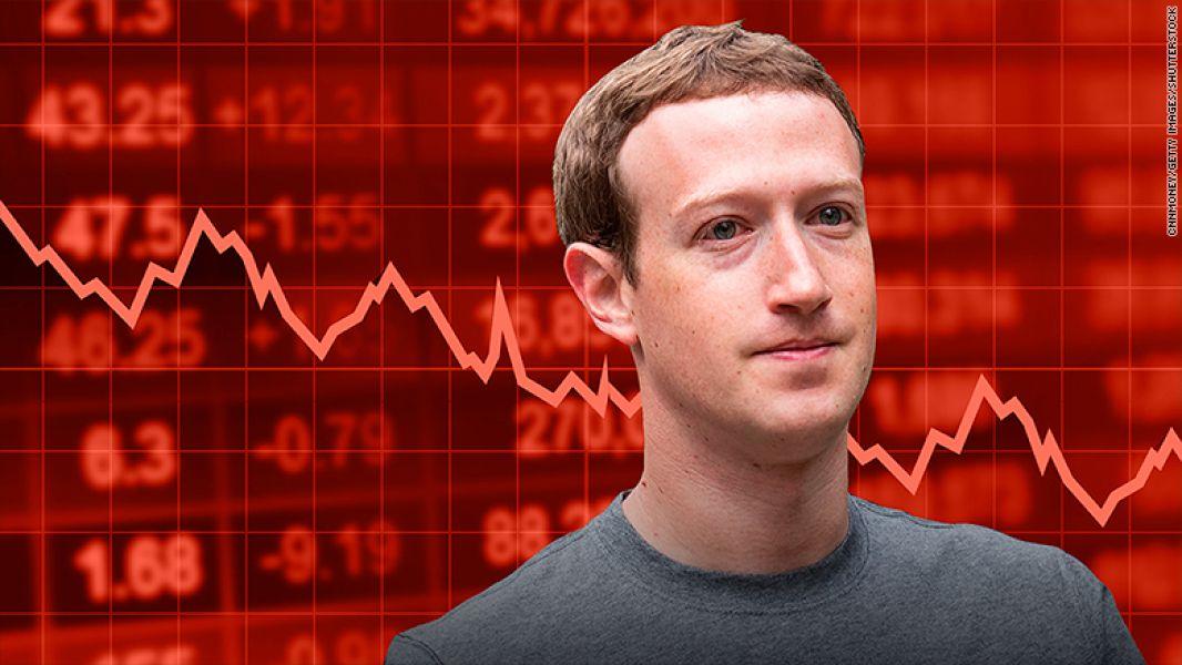 Mark Zuckerberg preocupado por Las acciones deFacebook.
