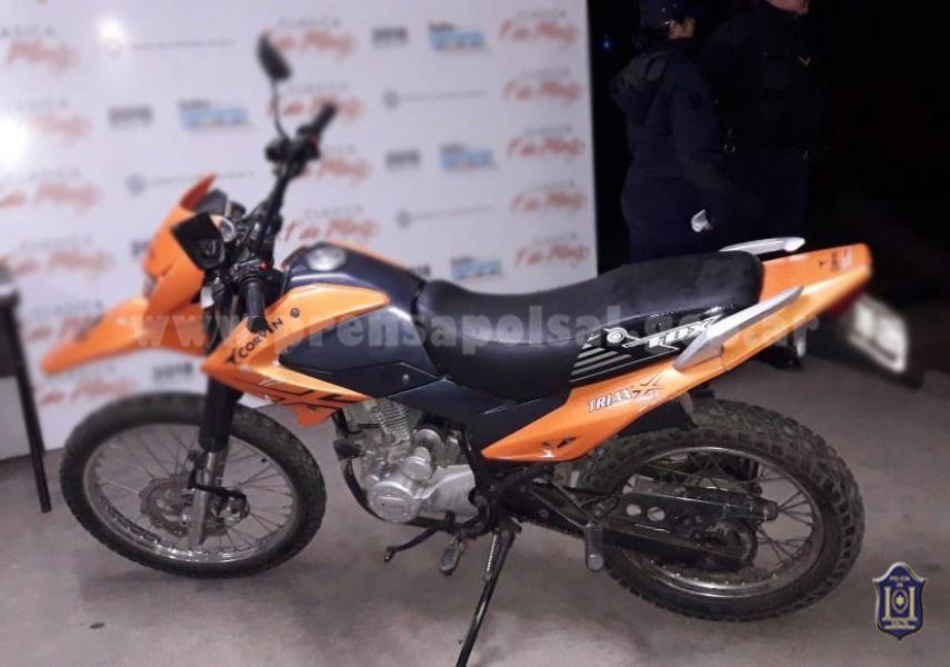 La motocicleta fue encontrada en el barrio Autó-dromo.