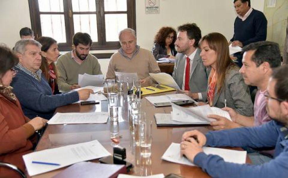 Reunión de Labor Parlamentaria del CD, que presidió el concejal Matías Cánepa (PS).