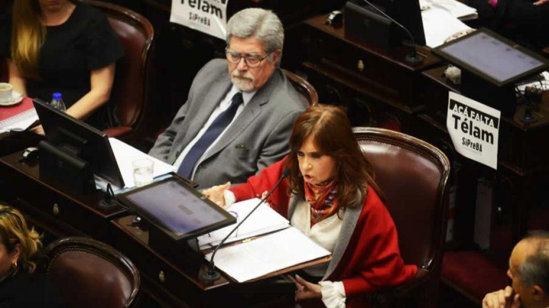 """""""Hoy estamos cerrando la cortina, rechazando y nunca hay que rechazar, debemos proponer una alternativa"""", dijo Cristina Kirchner."""
