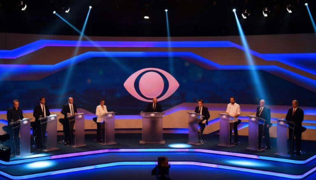 El debate televisivo entre los candidatos presidenciales brasileños celebrado el jueves 9 de agosto en Sao Paulo.