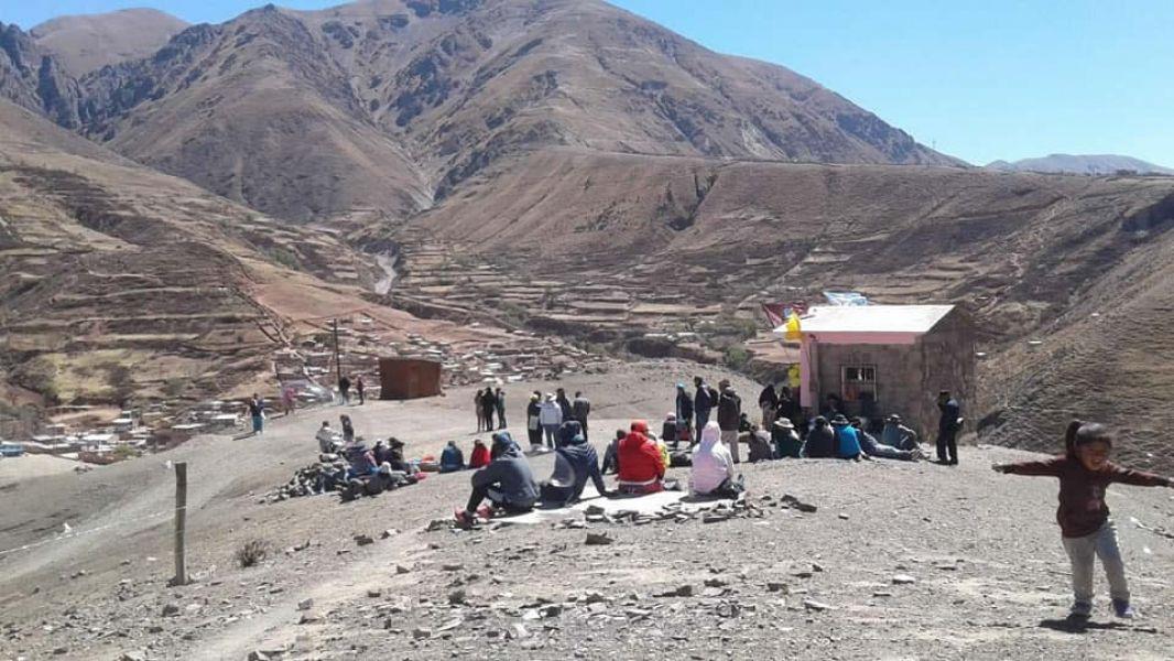 Peregrinos de Santa Victoria Oeste llegaron a Humahuaca, después de cinco días, donde van a descansar para seguir viaje a Salta.