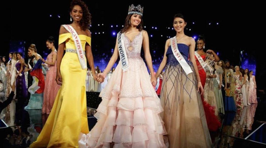 Stephanie del Valle es la segunda puertorriqueña en llevarse la corona desde 1975, con sus escoltas de la R. Dominicana e Indonesia.