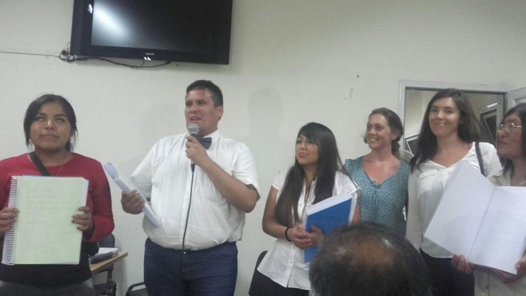 Alumnos que asistieron al curso de lectoescritura braille que dictó la Municipalidad de Salta.