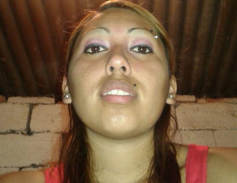"""La joven Andrea Neri, la segunda víctima del doble fenicida """"Chirete"""" Herrera."""