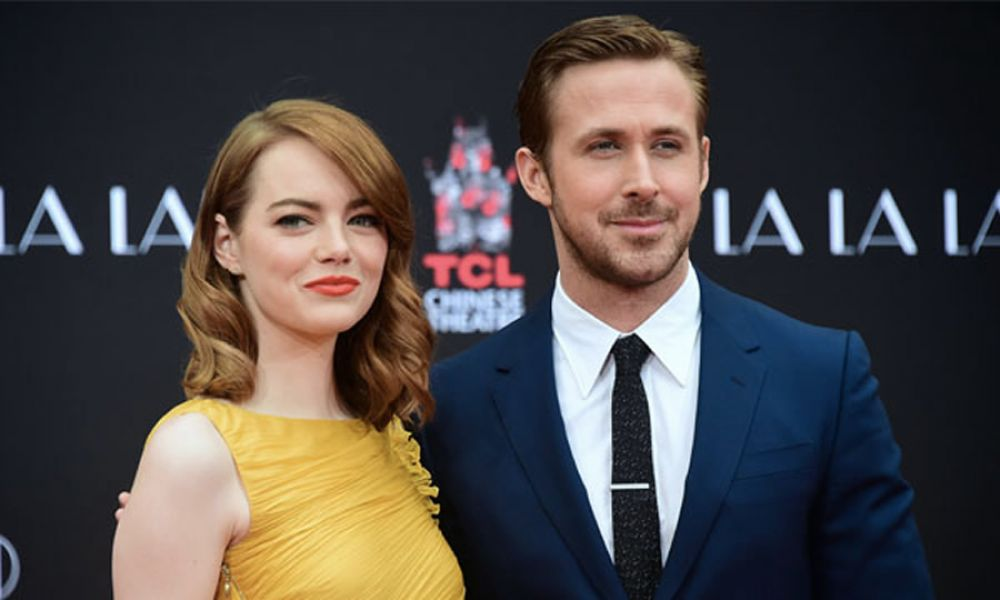 "Emma Stone yRyan Gosling, protagonistas del filme ""La La Land"", la niña bonita de esta temporada en Holllywood."