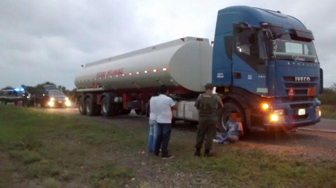 La droga iba en un compartimento externo del camión.