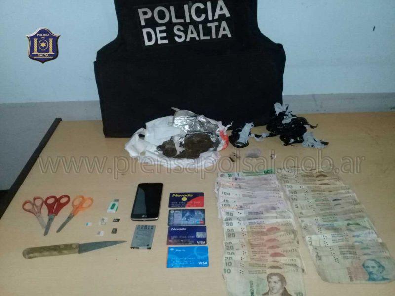 Además del secuestro de droga hubo tres detenidos.