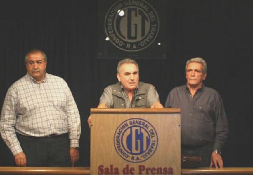 """""""Ninguno de los tres que estamos acá somos kirchneristas"""", aclaró Daer para contrarrestar el discurso del Gobierno."""