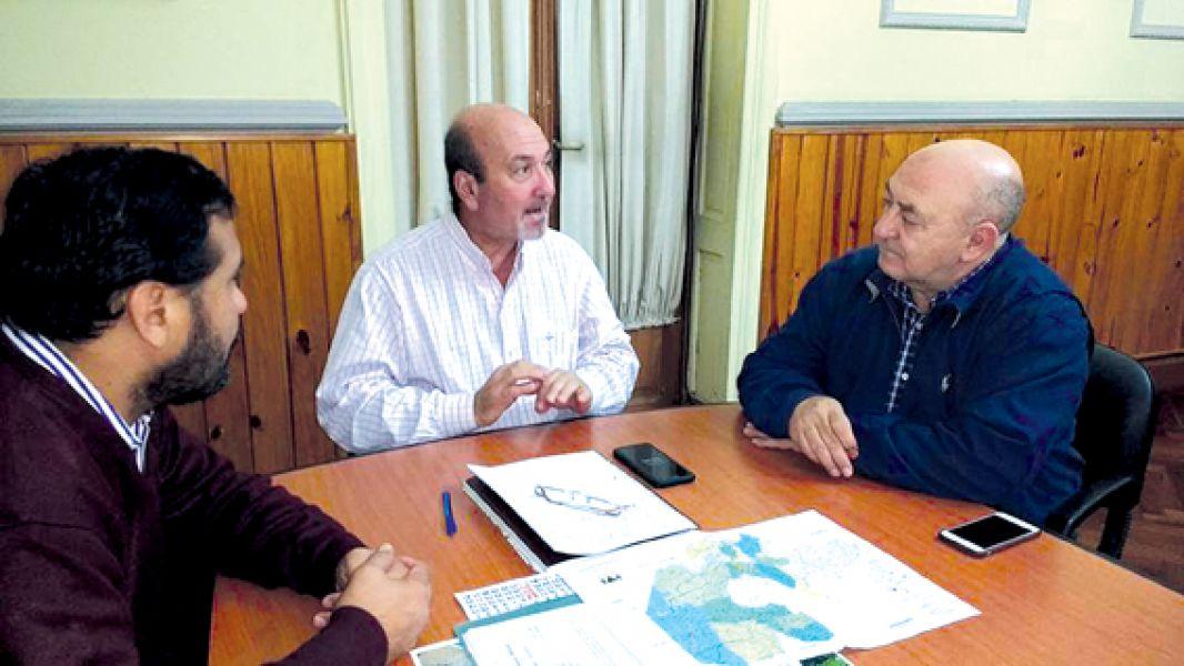 Villalba, Lapad y Cuenca analizaron la obra vial de la ruta 13