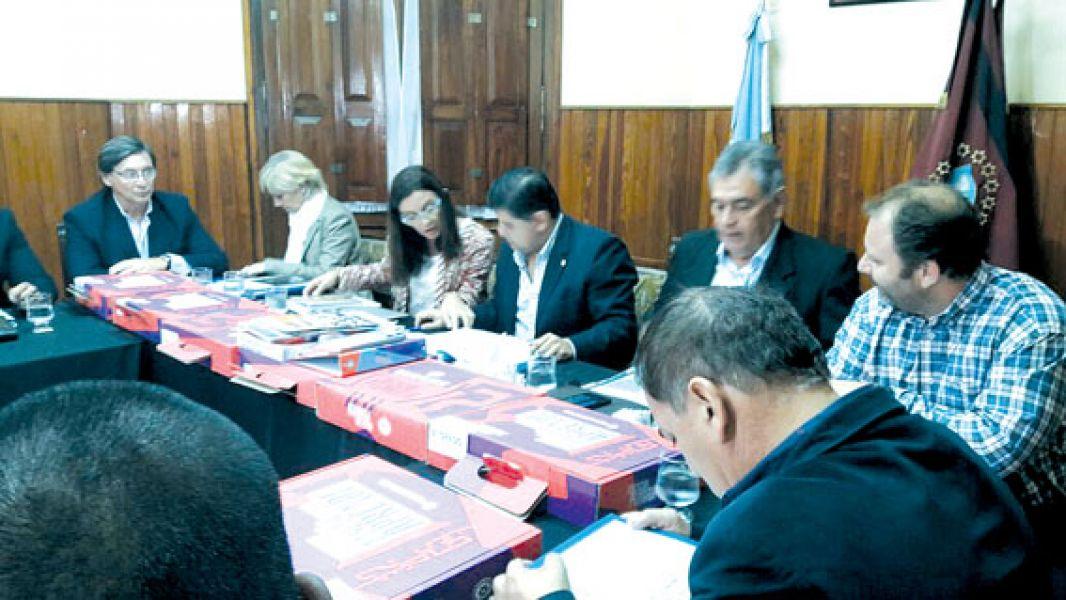 La ministra de Educación Analía Berruezo durante el informe que brindó a los senadores.