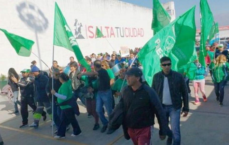 Una de las últimas marchas de municipales que causaron disturbios y destrozos en el CCM capitalino.