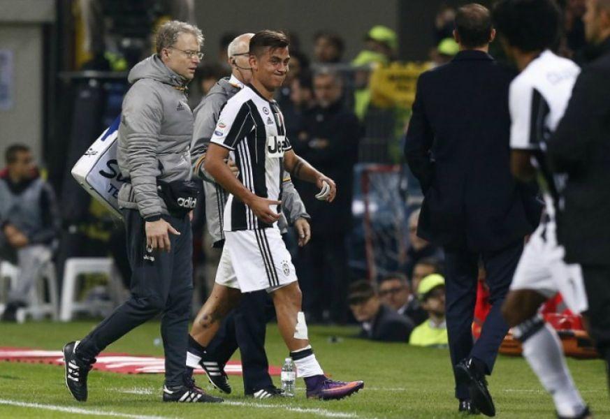 Paulo Dybala se lesionó en Italia y es duda para Argentina.