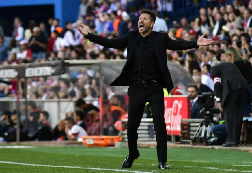 El Atlético Madrid de Diego Simeone, le ganó al Sevilla de Sampaoli por 3 a 1.