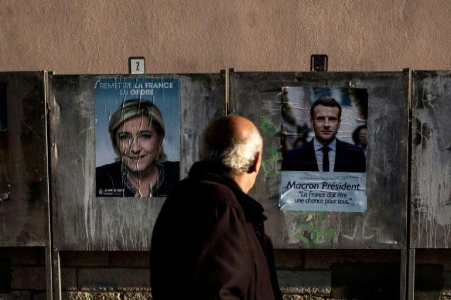 Le Pen y Macron se enfrentarán el miércoles en un debate televisivo que podría ser decisivo (EFE).