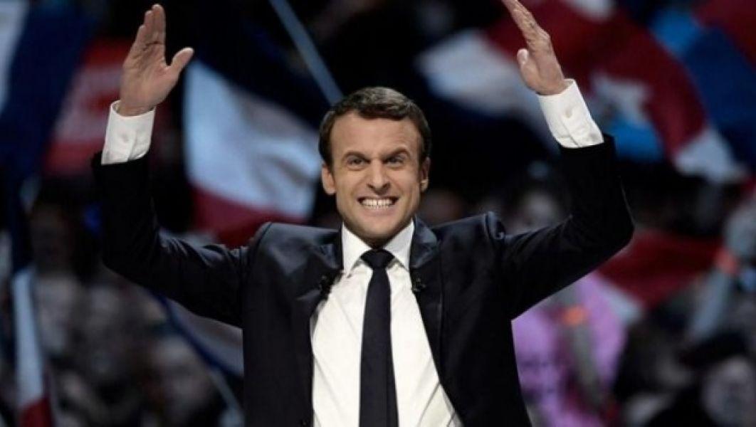 El líder del movimiento ¡En Marcha! encabeza las encuestas para la elección de mañana.