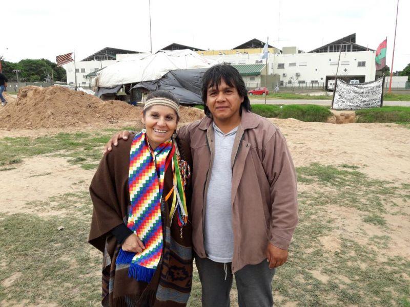 Margarita Mamaní y el cacique de Happo P+au, Luis Situe.