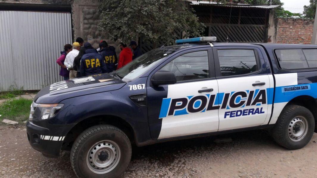 Uno de los operativos realizado en Orán por personal de la Policía Federal.