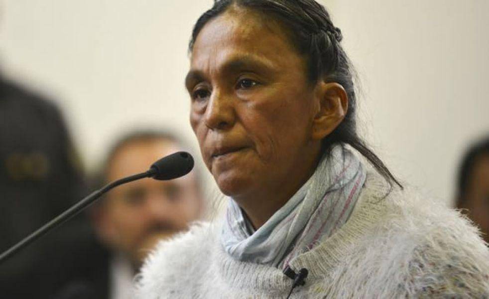 """La ONU ratificó que """"no existen elementos legales para justificar su prisión preventiva"""" de la líder de la Tupac Amarú."""