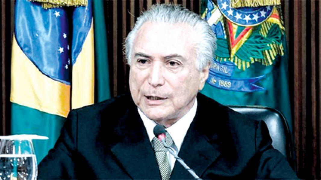 Michel Temer, presidente de Brasil, sigue en el cargo pese a las masivas protestas.