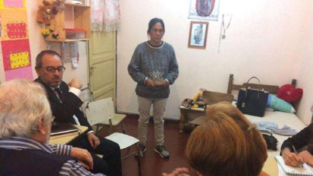 Milagro Sala junto a miembros de la Comisión Interamericana de Derechos Humanos (CIDH)