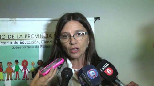 Analía Berruezo, ministra de Educación, dijo que se iniciará el sumario por el reto a alumnos.