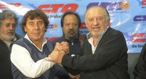 Hugo Yasky y Pablo Micheli, líderes de las CTA.