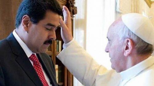 """El Papa y Maduro por un camino constructivo """"para aliviar el sufrimiento de los pobres""""."""
