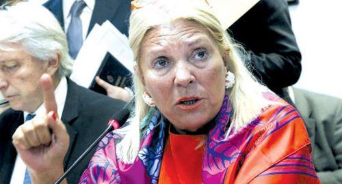 Elisa Carrió, diputada.