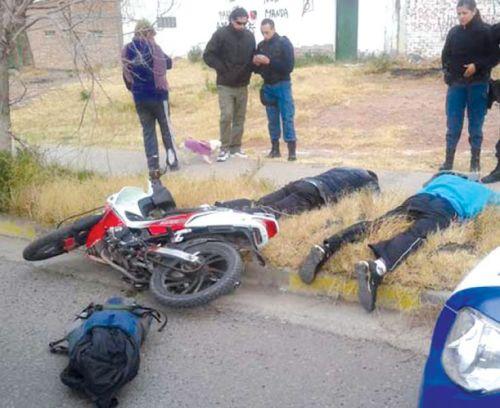 Los motochorros atrapados pero recuperaron su libertad por no tener antecedentes.