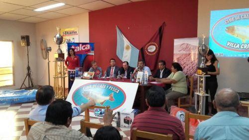 Acto de lanzamiento del concurso provincial y nacional de pesca del pejerrey.