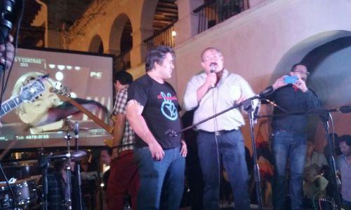 El intendente de Tartagal, Sergio Leavy, fue el principal orador del acto por NK
