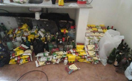 En medio de la confusión y los ataques a la policía, la policía secuestró gran cantidad de alcohol en el camping del dique.