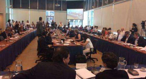 Diputados debatiendo el proyecto que logró su primer objetivo para la reforma en Ganancias.