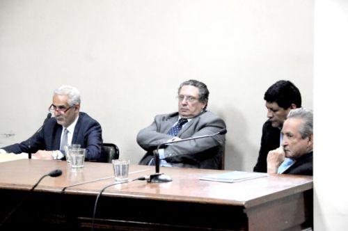 El ex juez Solá Torino y José Miguel Farfán.