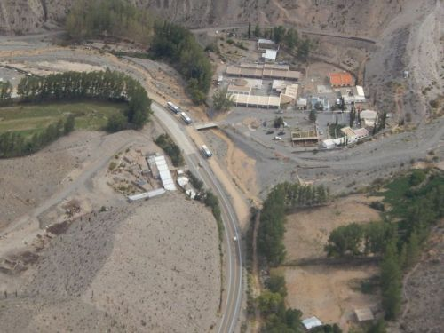 El caserío del paraje de Abra la Cruz, lugar dónde ocurrió el alud en la Quebrada del Toro
