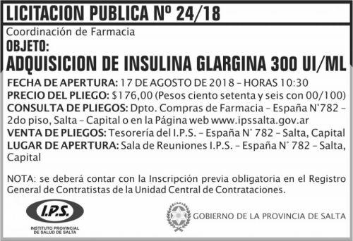 Licitación: Licitacion Publica 24 IPS