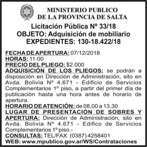 Licitación: PODER JUDICIAL 2X7