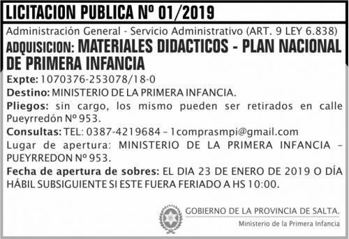 Licitación: Licitacion Publica 01 MPI 2x5 ND