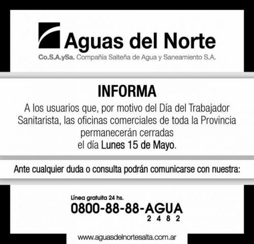 Edictos / Comunicados: AGUAS DEL NORTE