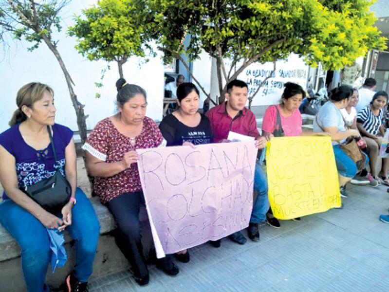 El  martes en manifestación la madre aseguró que a su bebé lo mataron.