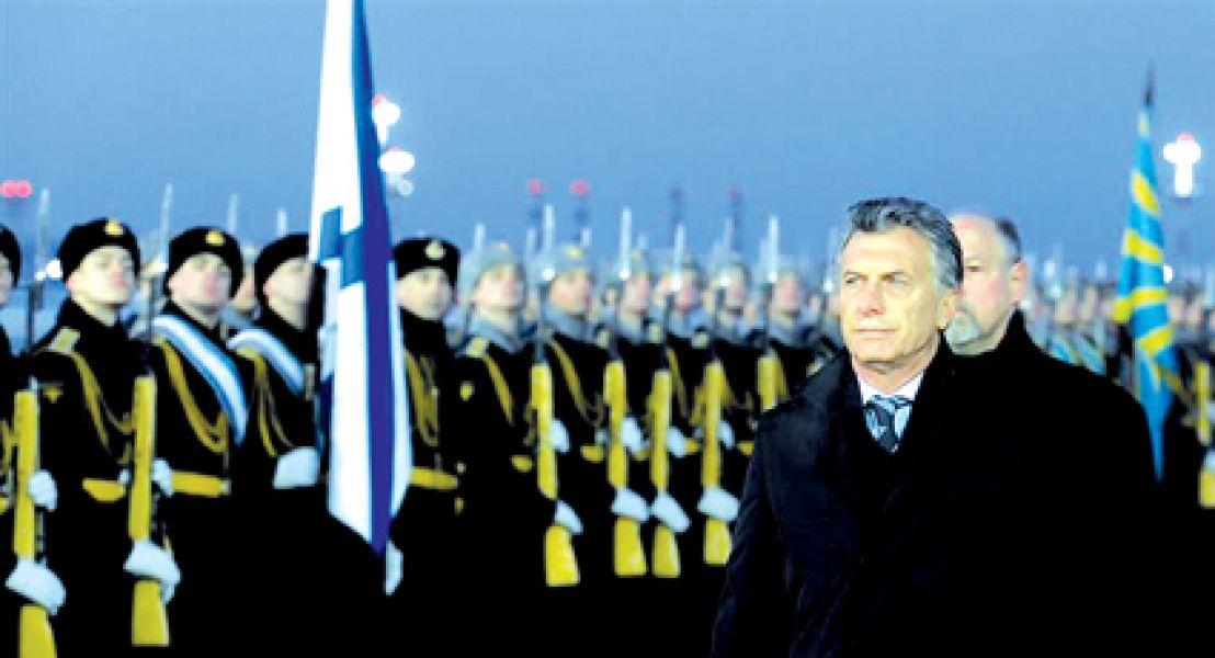El primer día de Macri en Rusia fue sin agenda oficial.