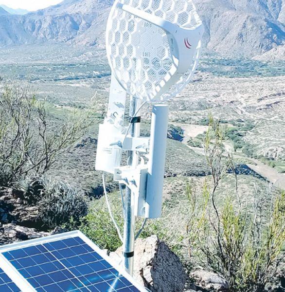 Las antenas instaladas en los cerros del Luracatao